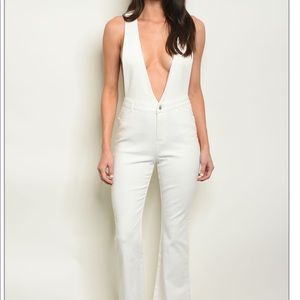 Denim - Off White Jumpsuit